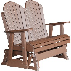 luxcraft-poly-4ft-adirondack-style-gliderBrn