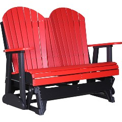 luxcraft-poly-4ft-adirondack-style-gliderRed