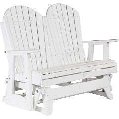luxcraft-poly-4ft-adirondack-style-gliderWh
