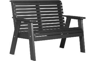 4PPBBK 4' Plain Poly Bench (Black)