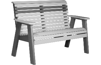 4PPBDGS 4' Plain Poly Bench (Dove Gray & Slate)