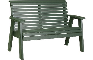 4PPBG 4' Plain Poly Bench (Green)