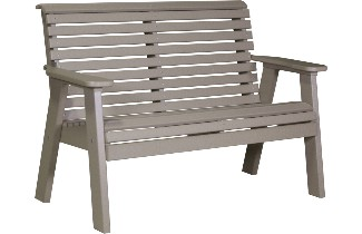 4PPBWW 4' Plain Poly Bench (Weatherwood)