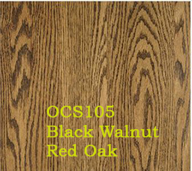 OCS105 Black Walnut Red Oak Stain