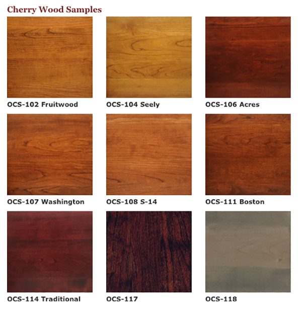 cherry hardwood stains