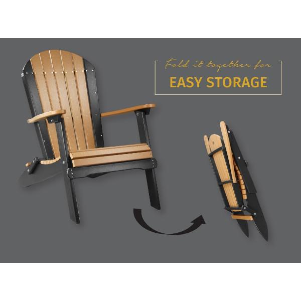 Folding Adirondack Chair Cedar & Black copy