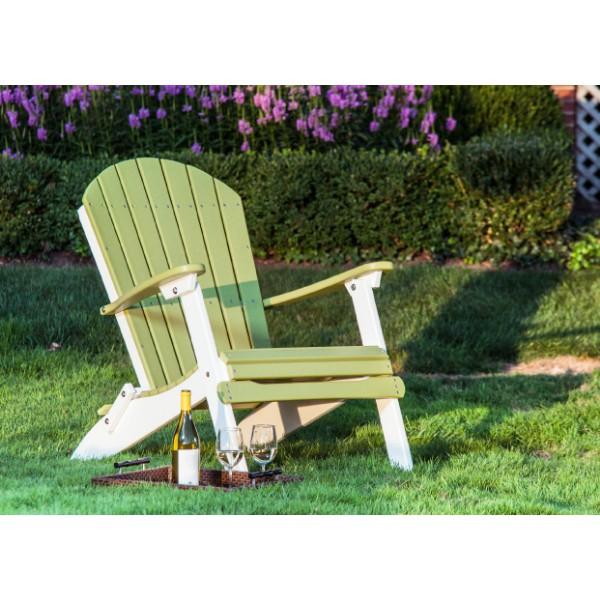 Folding Adirondack Chair Lime Green & White