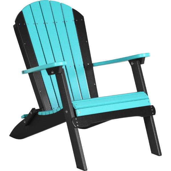 PFACABB Folding Adirondack Chair Aruba Blue & Black copy