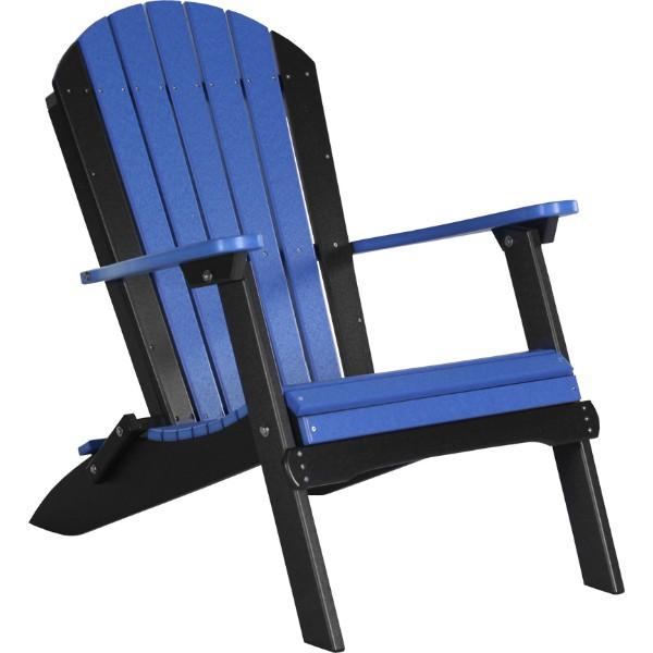 PFACBB Folding Adirondack Chair Blue & Black copy