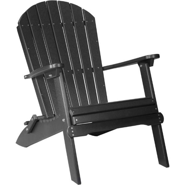 PFACBK Folding Adirondack Chair Black copy