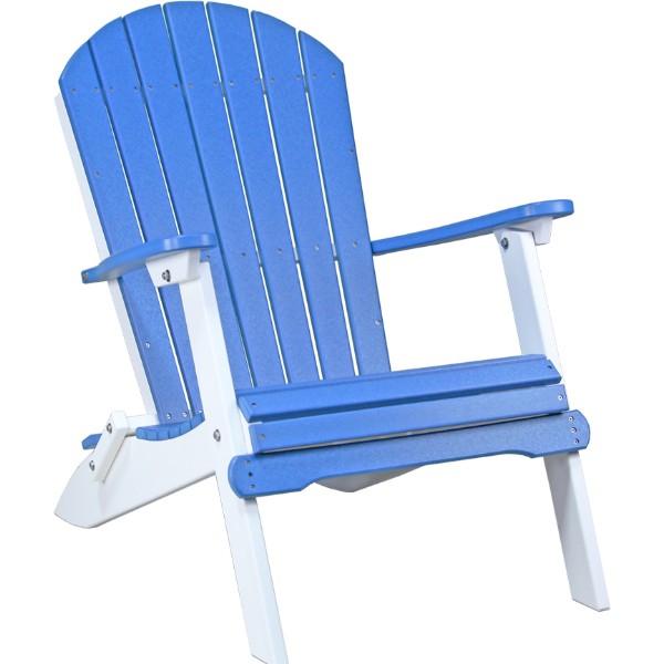 PFACBW Folding Adirondack Chair Blue & White copy