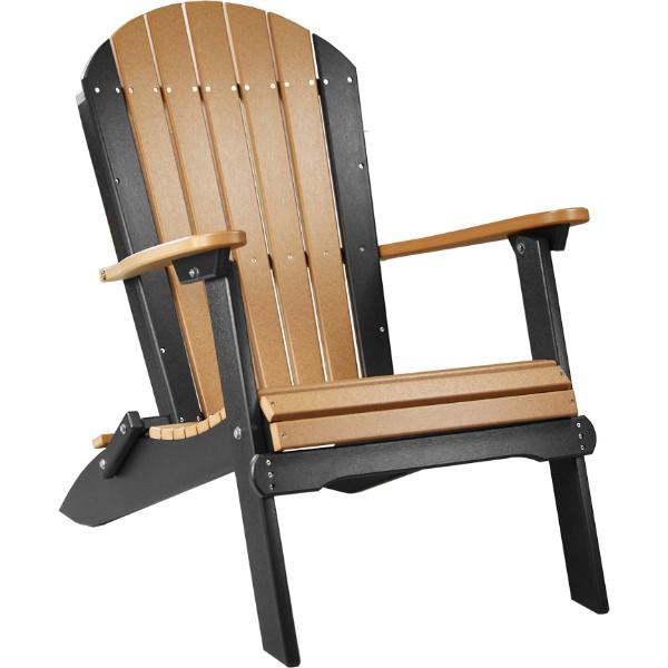 PFACCB Folding Adirondack Chair Cedar & Black copy