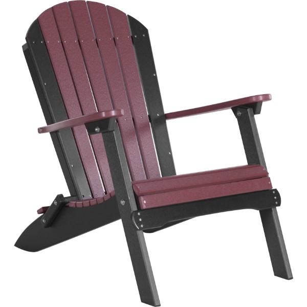 PFACCHB Folding Adirondack Chair Cherrywood & Black copy