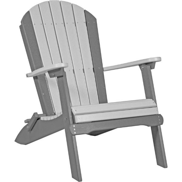 PFACDGS Folding Adirondack Chair Dove Gray & Slate copy