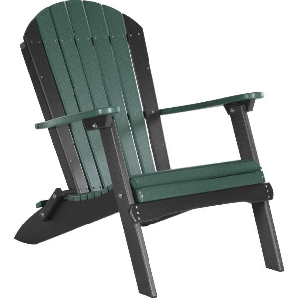 PFACGB Folding Adirondack Chair Green & Black copy