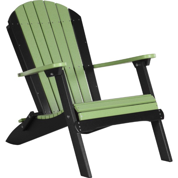 PFACLGB Folding Adirondack Chair Lime Green & Black copy