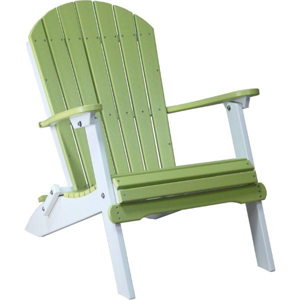 PFACLGW Folding Adirondack Chair Lime Green & White copy