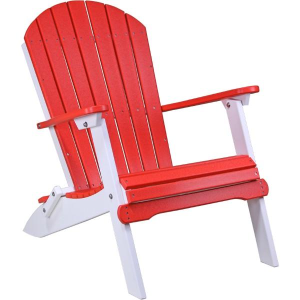 PFACRW Folding Adirondack Chair Red & White copy