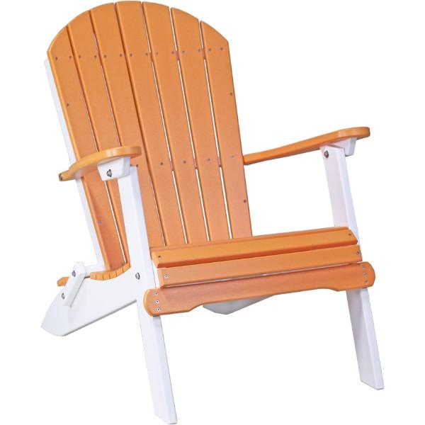 PFACTW Folding Adirondack Chair Tangerine & White copy