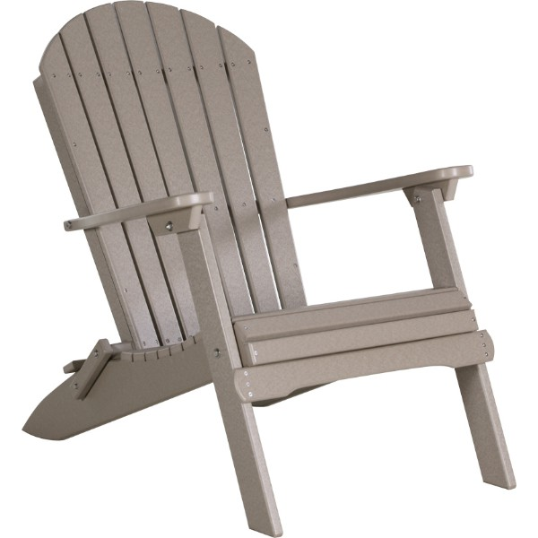 ... PFACWW Folding Adirondack Chair Weatherwood copy ... - Amish Outdoor Polywood Rocking Chairs & Amish Polywood Adirondack