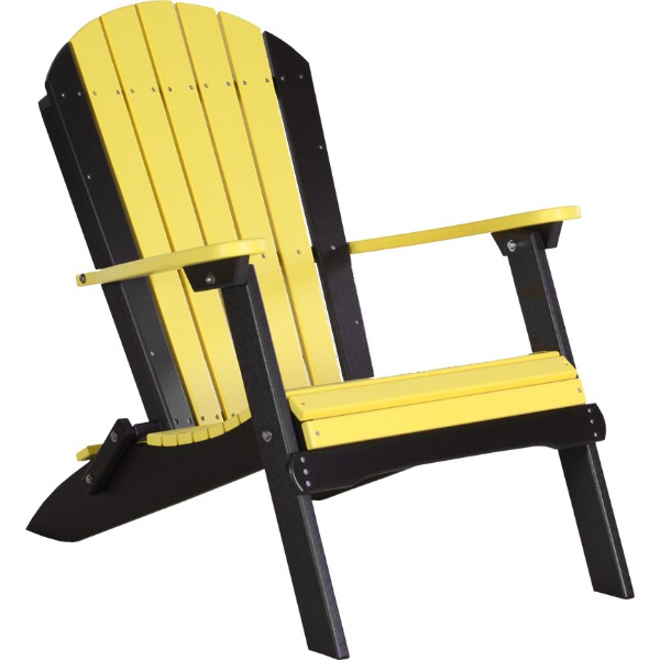 PFACYB Folding Adirondack Chair Yellow & Black copy