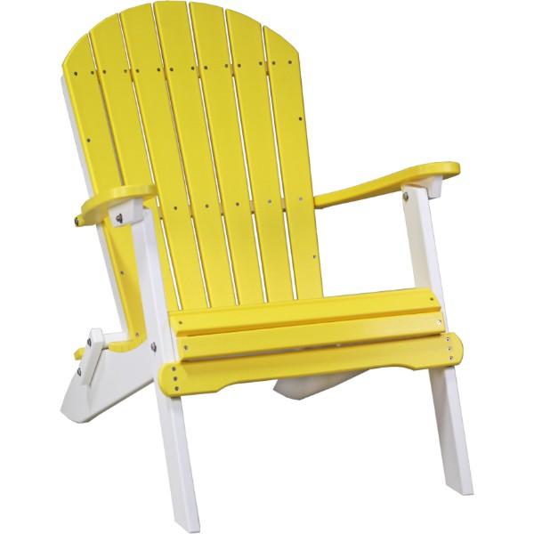 PFACYW Folding Adirondack Chair Yellow& White copy